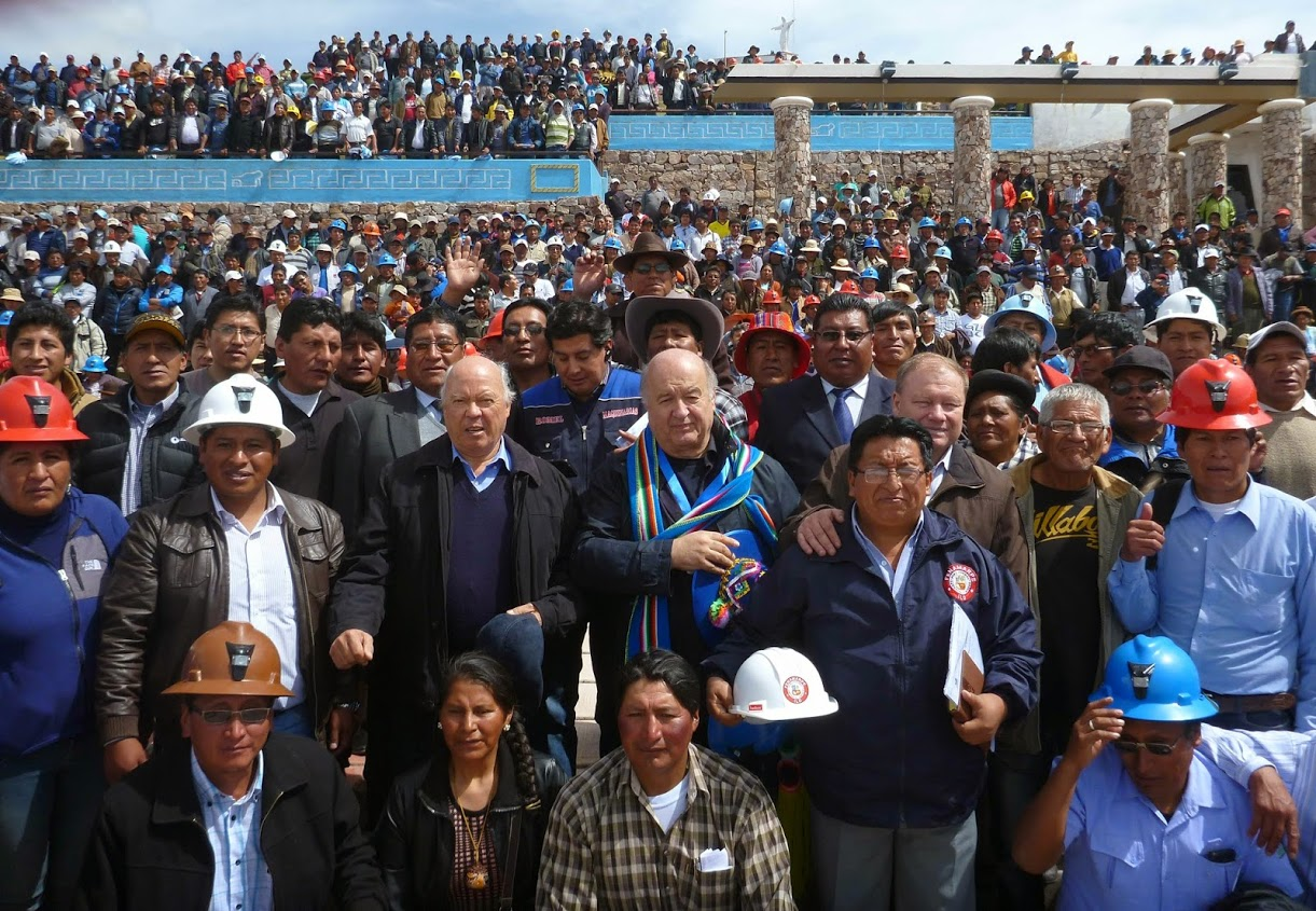 Hernando de Soto in Juliaca with 15,000 informal miners
