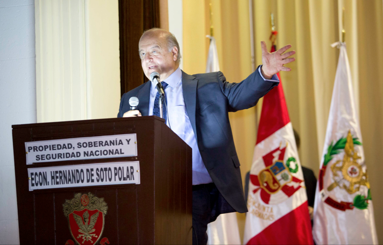 thesis of hernando de soto